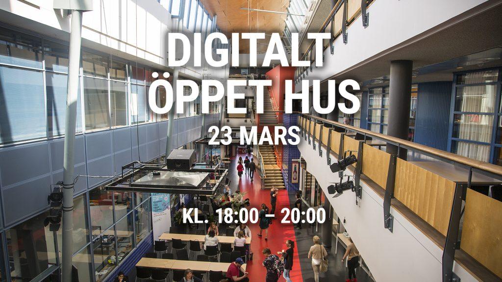 Digitalt Öppet Hus på Xenter Yrkeshögskola i Tumba den 23:e mars